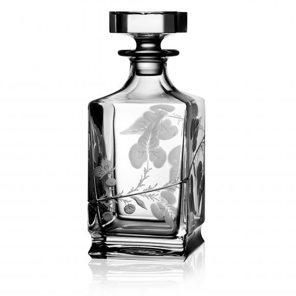 Rain Forest Clear Whiskey Decanter 0.75 Liter