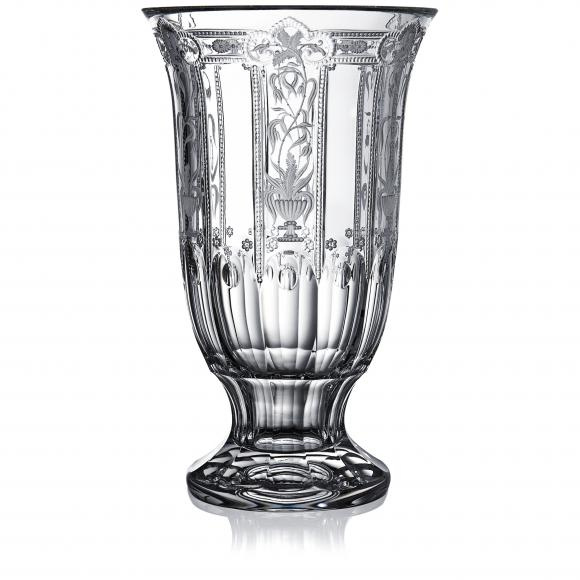 Imperial Clear Footed Vase 12