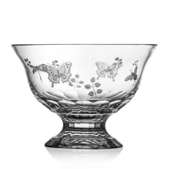 Springtime Clear Footed Bowl 10''