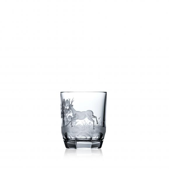 Hunter Clear Vodka Glass Deer