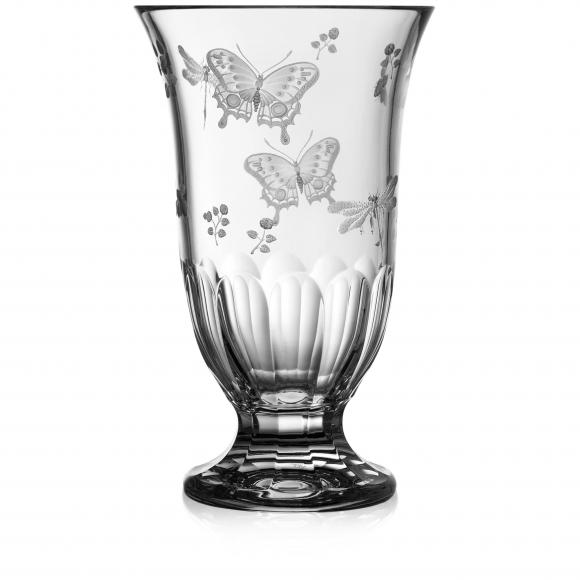 Springtime Clear Footed Vase 10''