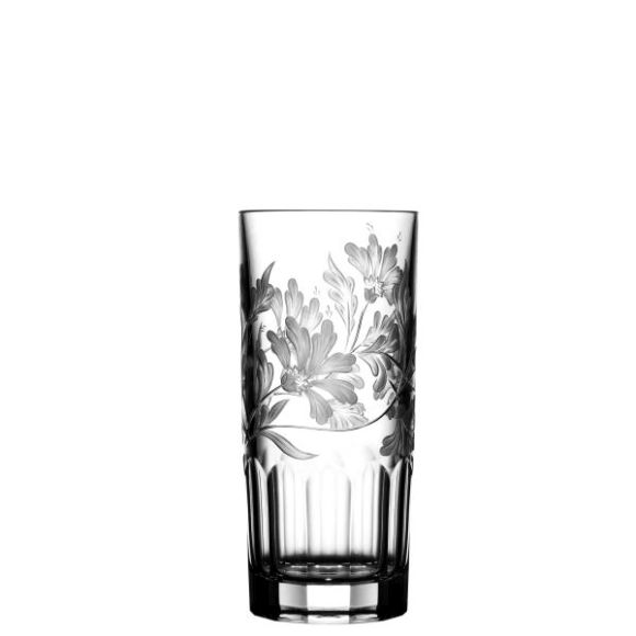 Green Derby Panel Clear Highball