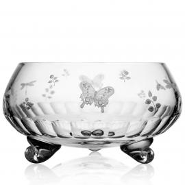 Springtime Clear Footed Bowl 13