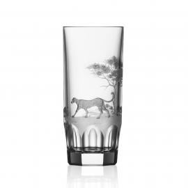 Safari Clear Highball Leopard