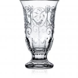 Madeira Clear Footed Vase 12