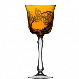 Metamorphoses Amber Water Goblet Raynaud Limoges©