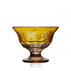 Springtime Amber Footed Bowl 8