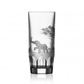 Safari Clear Highball Elephant