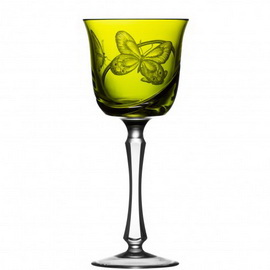 Metamorphoses Yellow-Green Water Goblet Raynaud Limoges©