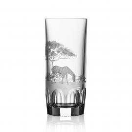 Safari Clear Highball Zebra